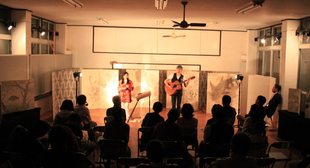 Collaboration performance with KAME-KOBO at Kikuta's studio